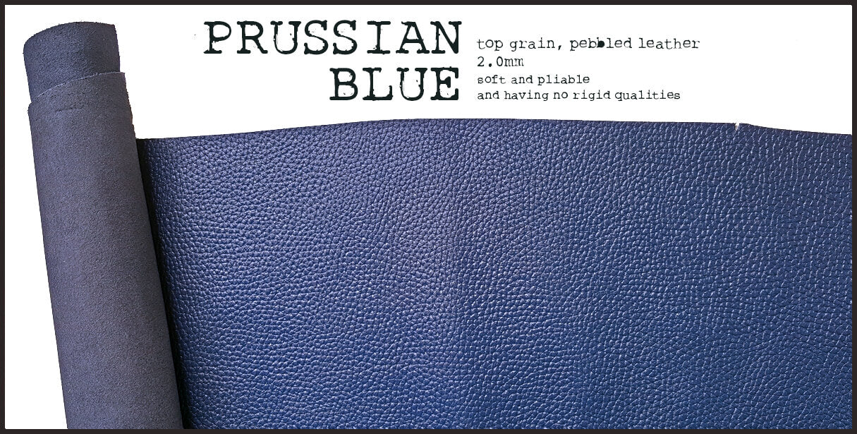 R.atelier Leather | Prussian Blue