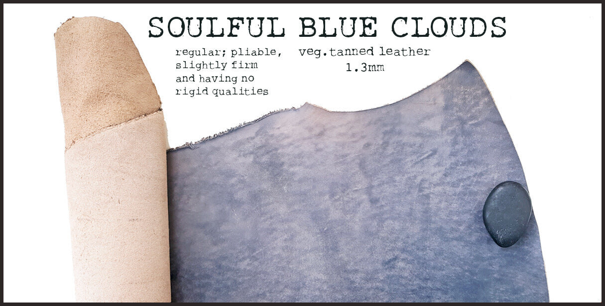 R.atelier Leather | Soulful Blue Clouds