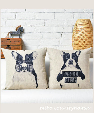 Boston Terrier | Throw Pillow Cover