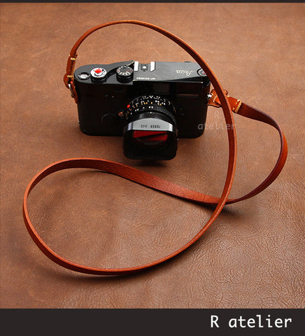 Handmade Leather Classic Rangefinder Camera Strap