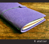Midori Traveler's Notebook | Felt Journal Cover | Standard Size Starter Kit