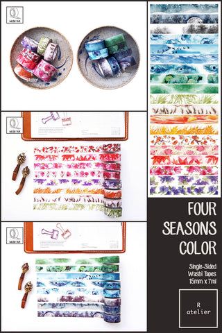 Four Seasons Color Washi Tapes | 15mm x 7m