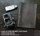 R.atelier A4 Refillable Notebook Leather Ring Binder Journal Cover | Bistre Brown