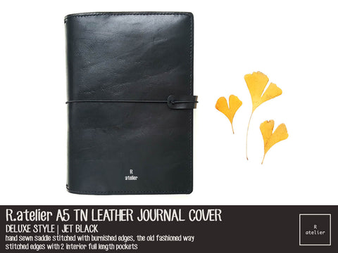 R.atelier A5 TN Leather Journal Cover | Jet Black