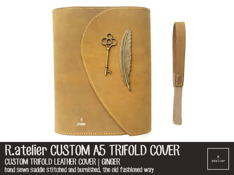 R.atelier A5 Trifold TN Leather Journal Cover