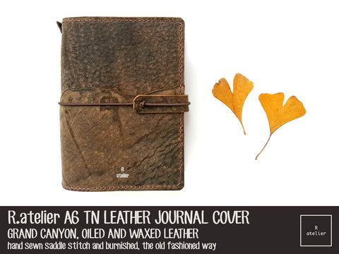 R.atelier Custom A6 TN Leather Journal Cover | Grand Canyon