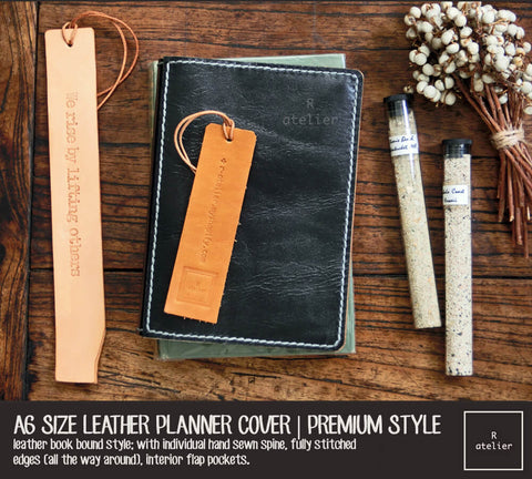 R.atelier A6 Leather Planner Journal Cover | Premium Style