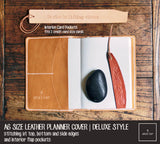 R.atelier A6 Leather Planner Journal Cover | Deluxe Style