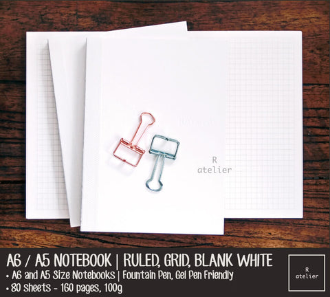 A6 / A5 Notebook Insert Refills | Value Pack