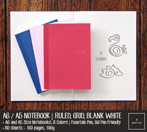A6 / A5 Color Notebook Insert Refills | Value Pack