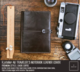 R.atelier A6 Traveler's Notebook Leather Journal Cover | Dark Coffee