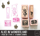 Alice in Wonderland Rubber Stamps Box Set | Type 1