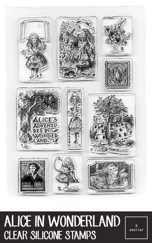 Alice in Wonderland Clear Silicone Stamps