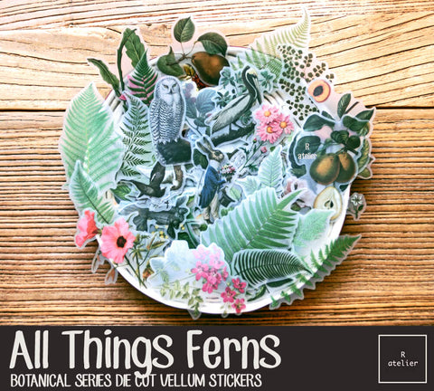 All Things Ferns | Die Cut Vellum Stickers