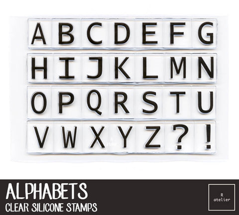Alphabets Clear Stamps
