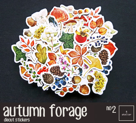 Autumn Forage (2) | Die Cut Stickers