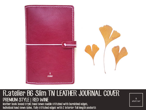 R.atelier B6 / B6 Slim TN Leather Cover | Red Wine