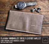 Minimalist Leather Bifold Wallet