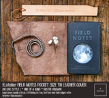 R.atelier Field Notes Pocket Size Leather Journal Cover | *One of A Kind* Bistre Brown