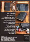 Field Notes | Leather Journal Cover | Black Onyx | Pocket Size