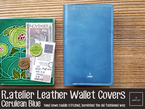 R.atelier Leather Wallet Cover | Cerulean Blue