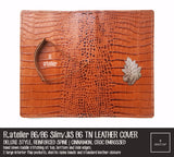 R.atelier Traveler's Notebook Leather Cover | Cinnamon, Croc Embossed | B6 / B6 Slim / JIS B6