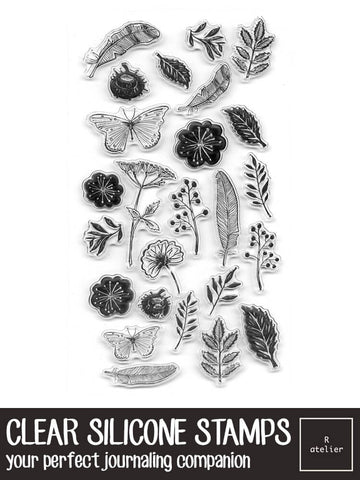 Clear Silicone Stamps | Flora and Fauna