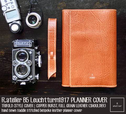 r atelier b5 trifold leuchtturm1917 leather cover