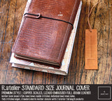 R.atelier Standard Size Traveler's Notebook Leather Cover | Premium Style | Copper Scales