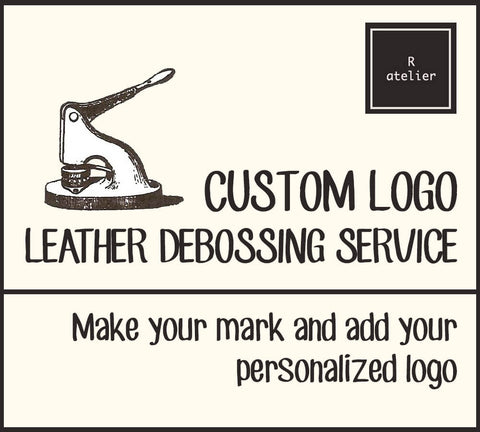 R.atelier Custom Logo Leather Debossing Service