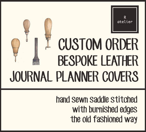 R.atelier Custom Order Leather Journal Planner Covers