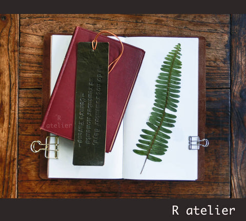 R.atelier Bespoke Leather Bookmark | Make It Personal