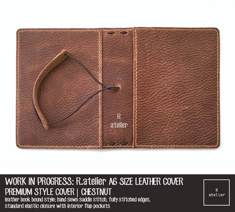 R.atelier A6 TN Leather Journal Cover | Chestnut