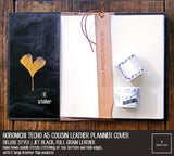 R.atelier Hobonichi Techo Cousin A5 Leather Planner Cover | Jet Black