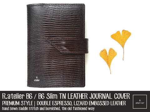 R.atelier B6 / B6 Slim TN Leather Journal Cover | Double Espresso