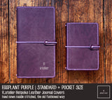 R.atelier Bespoke Leather Journal Covers | Eggplant Purple