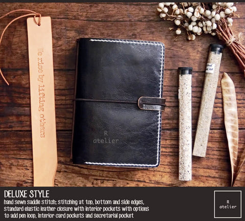 Field Notes Pocket Size Leather Journal Cover | Bistre Black