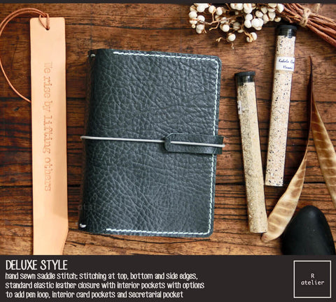 Field Notes | Leather Journal Cover | Midnight Green | Pocket Size