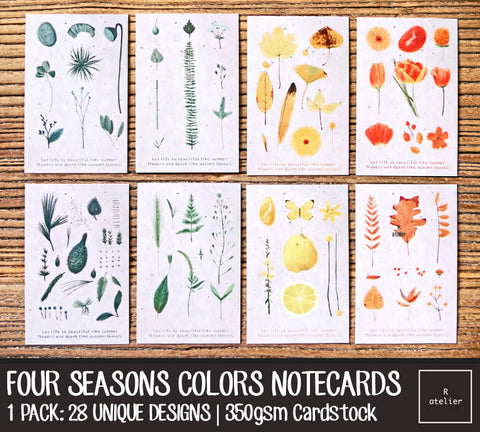 Four Seasons Colors Notecards