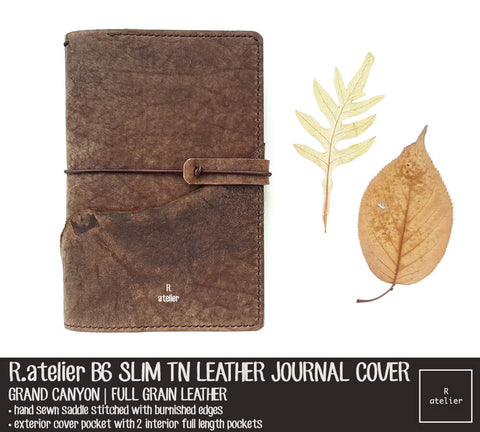 R.atelier Custom B6 Slim TN Leather Journal Cover | Grand Canyon