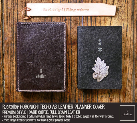 R.atelier Hobonichi Techo A6 Planner Leather Cover | Dark Coffee
