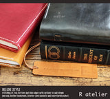 R.atelier Hobonichi Techo Cousin Leather Journal Cover | Bistre Black