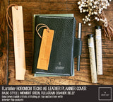 R.atelier Hobonichi Techo A6 Planner Leather Cover | Basic Style | Midnight Green