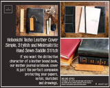 R.atelier Hobonichi Techo Cousin A5 Leather Journal Cover | Bistre Black