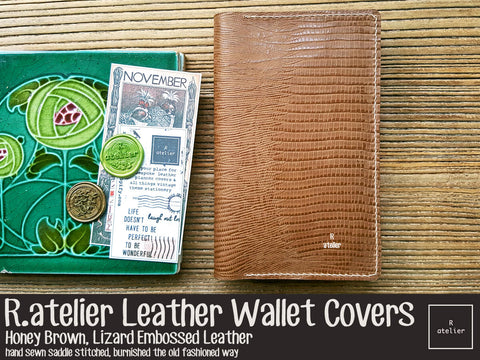R.atelier Leather Wallet Cover | Honey Brown