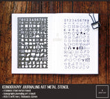 Iconography Metal Journaling Stencil Ruler Type 2