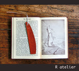 Indian Floral Design Leather Bookmark