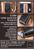 R.atelier Personal Size Traveler's Notebook Leather Cover | Jet Black