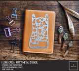 I Love Cats - Kitty Cat Iconography Metal Journaling Stencil
