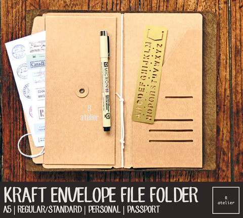Kraft Envelope File Folders | A5 / Standard / Personal / Passport